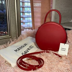 Mansur Gavriel Red Circle Bag